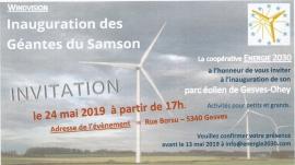 Inhuldiging windmolenpark 'Les Géantes du Samson'