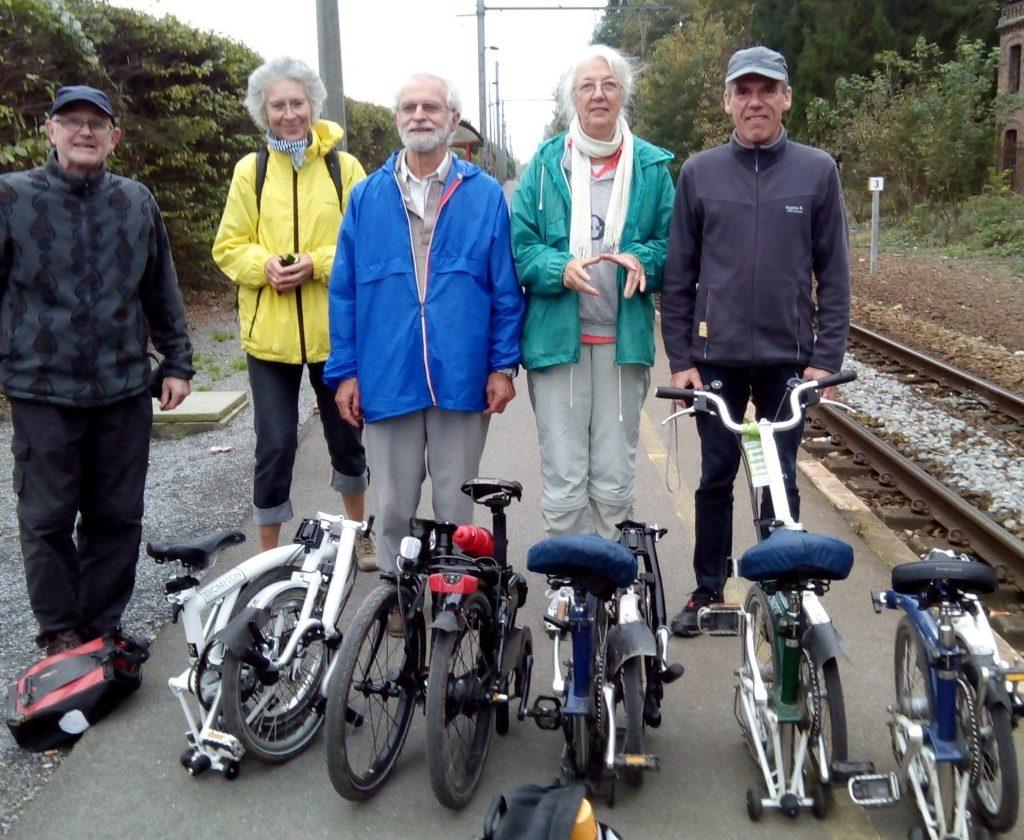Klimaatopa met fiets en trein erop uit