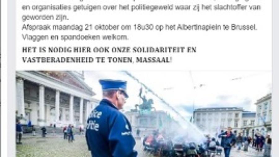 Actie tg politiegeweld BB