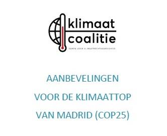 Aanbevelingen voor de Klimaattop van Madrid