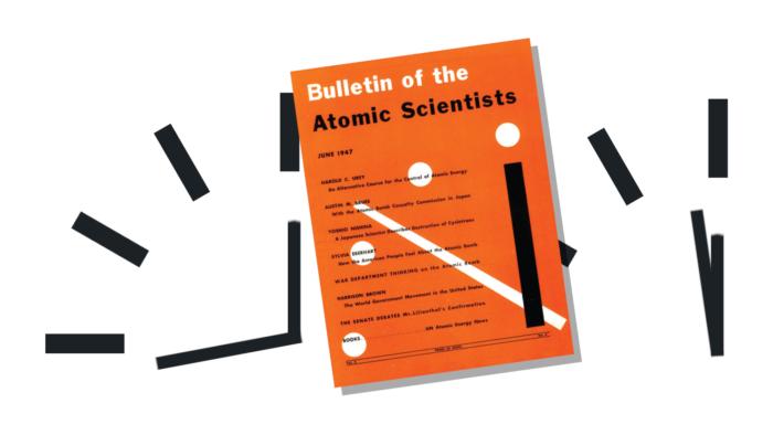 The Bulletin op achtergrond klok 33