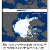 Arctic ice 1984-2012