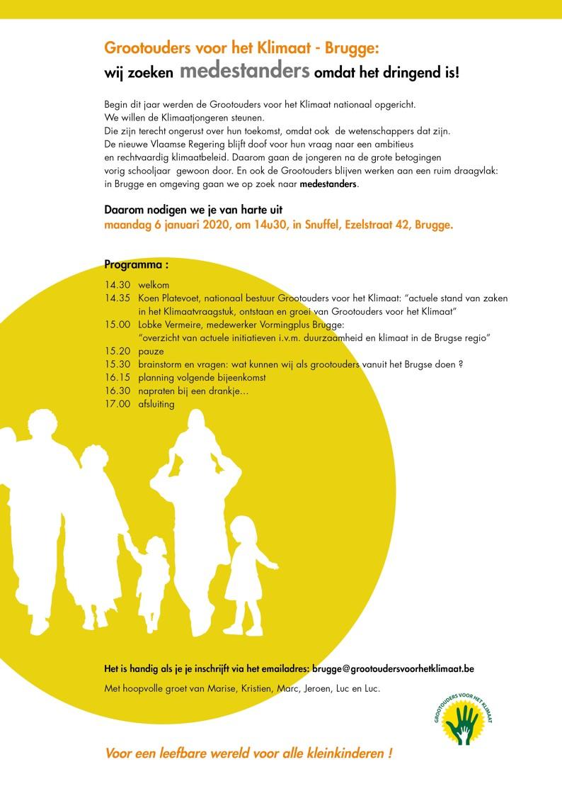 Grootouders voor het Klimaat Brugge zoekt medestanders!