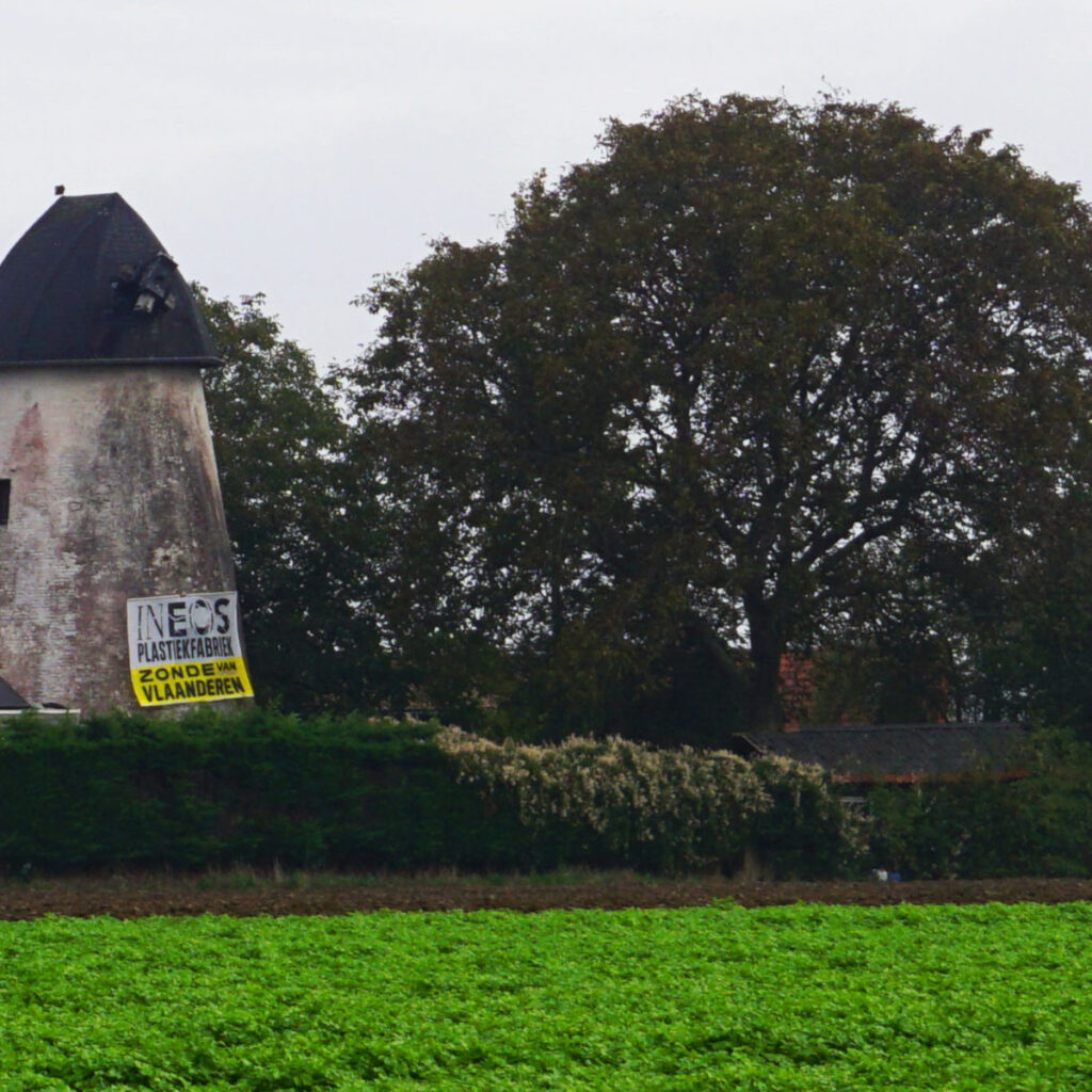 Protest tegen Ineos in Ronde van Vlaanderen