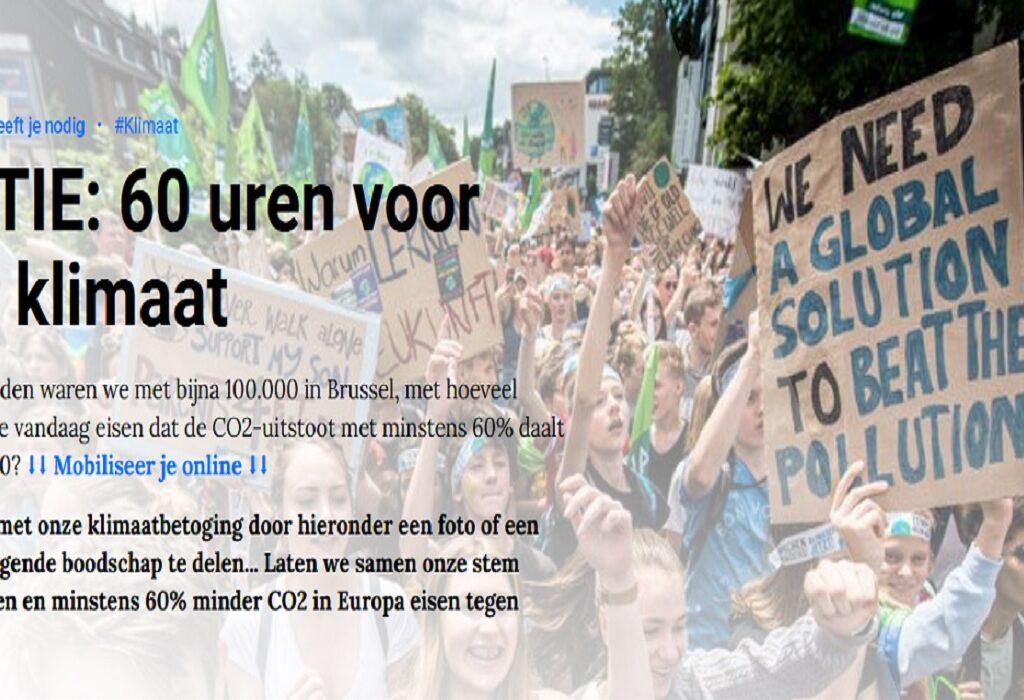 ACTIE: 60 x 60 voor het klimaat – Doe mee!