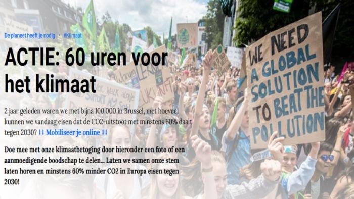 60 uren voor het klimaat