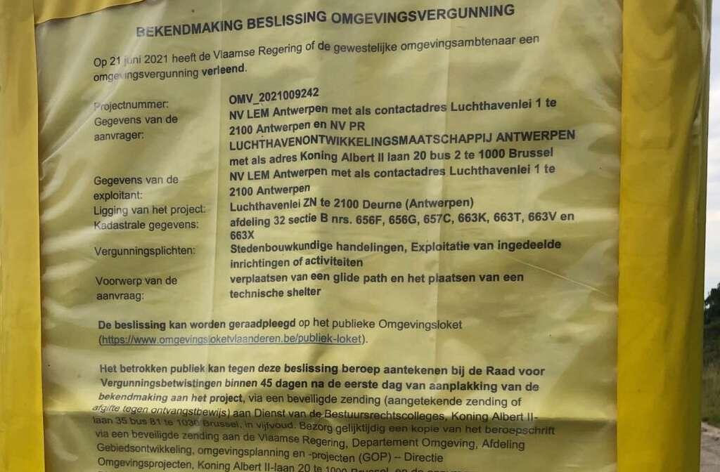 Al 3234 bezwaren tegen eeuwigdurende vergunning luchthaven Deurne